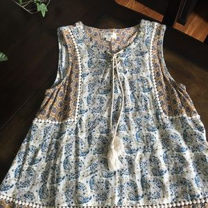 Boutique sleeveless blouse